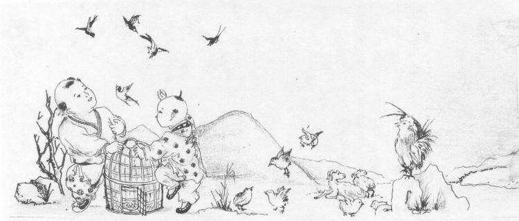 鸟雀简笔画