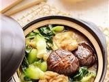 香菇菜心面筋煲