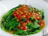 剁椒豆酱炒木耳菜
