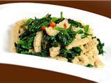 菠菜炒面筋