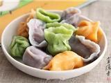 五彩素饺子